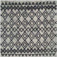 Safavieh Casablanca Phoebe 6' Square Area Rug in Grey/Charcoal