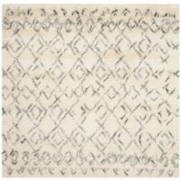 Safavieh Casablanca Phoebe 8' Square Area Rug in Ivory/Grey