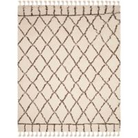 Safavieh Casablanca Saffron 9' x 12' Area Rug in Ivory/Brown