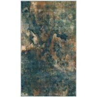 Safavieh Constellation Vintage 2-Foot x 3-Foot Lea Rug in Light Blue/Multi