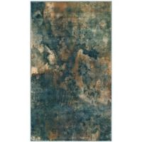Safavieh Constellation Vintage 3-Foot 3-Inch x 5-Foot 7-Inch Lea Rug in Light Blue/Multi