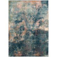 Safavieh Constellation Vintage 6-Foot 7-Inch x 9-Foot 2-Inch Lea Rug in Light Blue/Multi