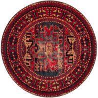 Safavieh Vintage Hamadan Azar 5-Foot 3-Inch Round Area Rug in Red