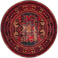 Safavieh Vintage Hamadan Azar 6-Foot 7-Inch Round Area Rug in Red