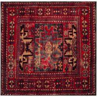 Safavieh Vintage Hamadan Azar 6-Foot 7-Inch Square Area Rug in Red