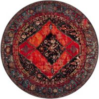 Safavieh Vintage Hamadan 5-Foot 3-Inch x 5-Foot 3-Inch Farzin Rug in Orange