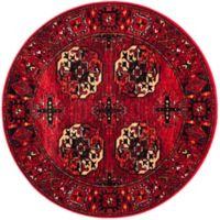 Safavieh Vintage Hamadan 6-Foot 7-Inch x 6-Foot 7-Inch Zara Rug in Red