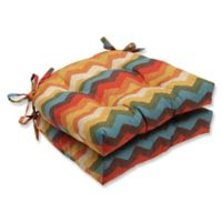 Pillow Perfect Panama Wave Multicolor Chair Pads (Set of 2)
