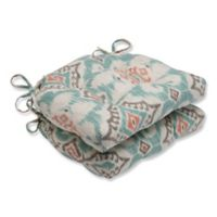 Pillow Perfect Kantha Surf Chair Pads in Green (Set of 2)