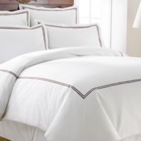 Italian Hotel Collection Double Marrowing King Duvet Cover in Brown