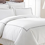 Italian Hotel Collection Double Marrowing King Duvet Cover in Grey