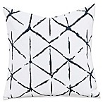 Everlast Firestar 26-Inch Square Throw Pillow in Black/Off White