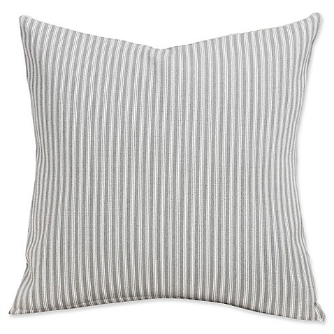 image of SIScovers® Revolution Plus Everlast Stripe 26-Inch Square Throw Pillow in Greige/Off White
