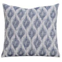 SIScovers® Diamond Creek 20-Inch Square Throw Pillow in Blue/Off White
