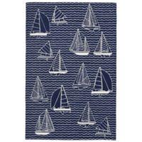 Liora Manne Sails 3-Foot 6-Inch x 5-Foot 6-Inch Indoor/Outdoor Area Rug in Navy
