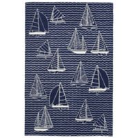 Liora Manne Sails 7-Foot 6-Inch x 9-Foot 6-Inch Indoor/Outdoor Area Rug in Navy