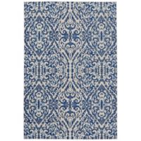 Feizy Manfred Damask 2-Foot 2-Inch x 4-Foot Accent Rug in Royal