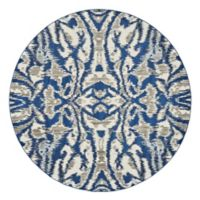 Feizy Manfred 8-Foot 9-Inch Round Area Rug in Blue