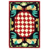 Liora Manne Rooster 1-Foot x 2-Foot 6-Inch Indoor/Outdoor Accent Rug in Red