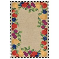 Liora Manne Fruits 3-Foot 6-Inch x 5-Foot 6-Inch Indoor/Outdoor Area Rug