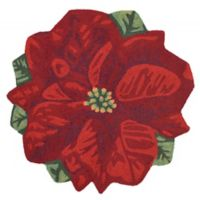Liora Manne Poinsettia 3-Foot Round Indoor/Outdoor Accent Rug