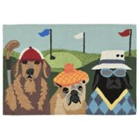 Liora Manne Putts Mutts 2-Foot 6-Inch x 4-Foot Indoor/Outdoor Multicolor Accent Rug
