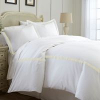 Italian Hotel Collection Satin Band King Duvet Cover in Light Brown
