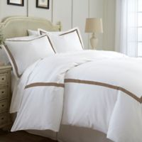 Italian Hotel Collection Satin Band King Duvet Cover In Mocha