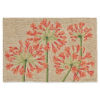 Liora Manne Desert Lily 2-Foot x 3-Foot Indoor/Outdoor Accent Rug in Orange