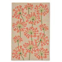 Liora Manne Desert Lily 3-Foot 6-Inch x 5-Foot 6-Inch Indoor/Outdoor Area Rug in Orange