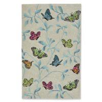 Liora Manne Butterflies on Tree 3-Foot 6-Inch x 5-Foot 6-Inch Indoor/Outdoor Area Rug in Green