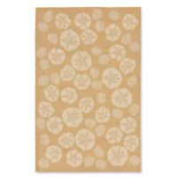 Liora Manne Terrace Shell Toss 3-Foot 3-Inch x 4-Foot 11-Inch Indoor/Outdoor Accent Rug in Camel