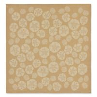 Liora Manne Terrace Shell Toss 7-Foot 10-Inch Square Indoor/Outdoor Area Rug in Camel