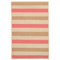 Liora Manne Terrace Multi-Stripe 1-Foot 1-Inch x 2-Foot 11-Inch Indoor/Outdoor Accent Rug in Sunset