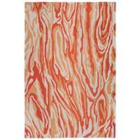Liora Manne Lalunita Marble 27-Inch x 8-Foot Runner in Rust