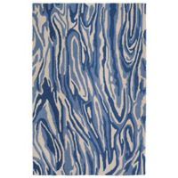 Liora Manne Lalunita Marble 3-Foot 6-Inch x 5-Foot 6-Inch Area Rug in Navy
