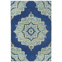 Liora Manne Lalunita Medallion 5-Foot x 8-Foot Area Rug in Navy