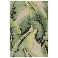 Liora Manne Lalunita Palm Leaf 2-Foot 3-Inch x 8-Foot Runner in Green