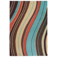 Liora Manne Lalunita Wave 3-Foot 6-Inch x 5-Foot 6-Inch Multicolor Area Rug