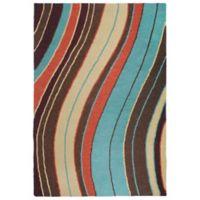 Liora Manne Lalunita Wave 5-Foot x 8-Foot Multicolor Area Rug