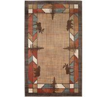 Mohawk Home Destinations Butte Multicolor 5-Foot 3-Inch x 7-Foot 10-Inch Area Rug