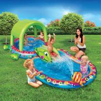 Banzai Shade 'N Slide Turtle Splash Pool