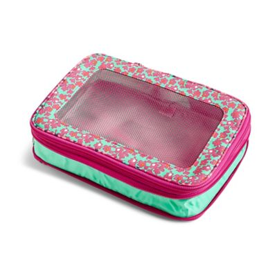 Vera Bradley Lighten Up Small Expandable Packing Cube In Ditsy Dots Print