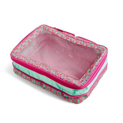 Vera Bradley Lighten Up Large Expandable Packing Cube In Ditsy Dots Print