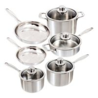 Swiss Diamond® Premium Clad Stainless Steel 10-Piece Cookware Set