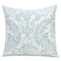 SIScovers® 16-Inch Parlour Square Throw Pillow in Blue/Off White