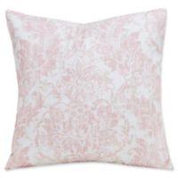 SIScovers® Parlour 16-Inch Square Throw Pillow in Pink/Beige
