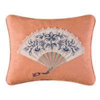 Hampstead Toile Oblong Throw Pillow in Pink