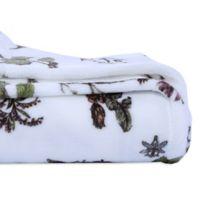 Berkshire Blanket Velvetloft® Botanical Twin Blanket in White