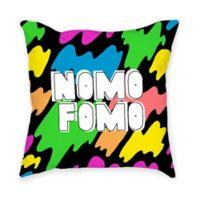 """Broad City """"Nomo Fomo"""" Square Throw Pillow"""